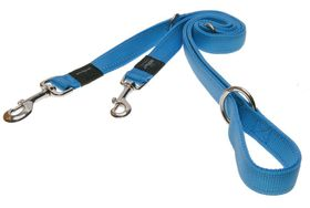 Rogz - Utility Lumberjack Multi-Purpose Dog Lead - Extra-Large 2.5cm - Turquoise Reflective