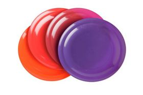 Gizmo Large Round Plates Pack of 4 - Maroon
