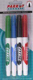 Parrot Whiteboard Marker Slimline (Pack of 4)