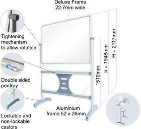 Parrot Mobile Revolving Magnetic BoardParrot Mobile Revolving Magnetic 1500x1200mm Board and Leg Set