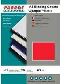 Parrot A4 Opaque 300 Micron Binding Cover - Red