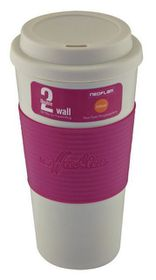 Neoflam - Double Walled Travel Mug - Pink - 500ml