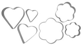 Anzo - Inspire Cookie Cutters Flower and Heart 6 Piece