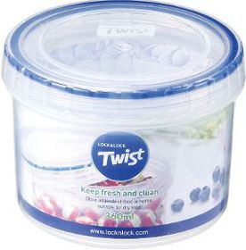 Lock and Lock Round Twist Container - 360 ml