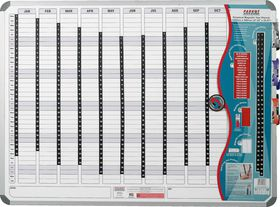 Parrot Perpetual Year Planner - 1500mm x 1200mm