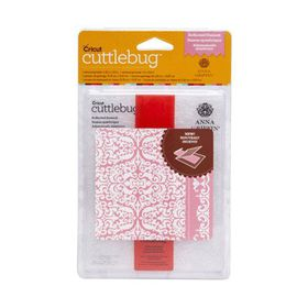 Cuttlebug Anna Griffin Embossing Folder & Border A2 - Reflect Damask