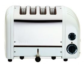 Dualit - 4 Slice Classic Toaster - Canvas White