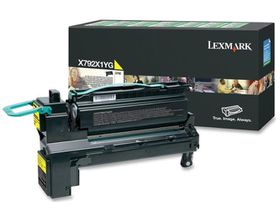 Lexmark X792X1YG Extra High Yield Return Program Laser Toner Cartridge - Yellow