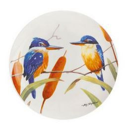 Maxwell and Williams - Eric Shepherd Sacred Kingfisher Decal Cake Plate - 20cm - White