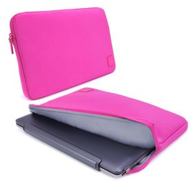 "Tuff-Luv 15"" Notebooks/UltraBooks Cub-Skinz Neoprene Protective Sleeve - Pink"