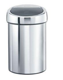 Brabantia - Touch Bin With Inner Plastic Bucket - 3 Litre - Brilliant Steel