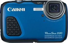 Canon D30 Underwater Digital Camera Blue