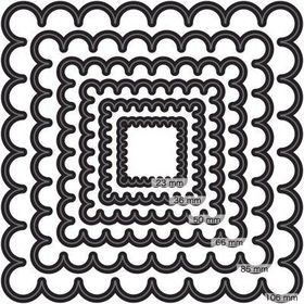 Couture Creations Nesting Dies - Scallop Square