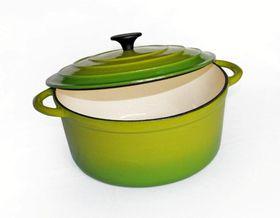 LK's - Round Casserole - Green - 6L
