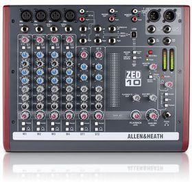 Allen & Heath ZED-10 Live Studio Mixer with USB Audio Interface -Black