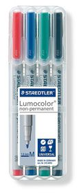 Staedtler Lumocolor 4 Non-Permanent Medium Markers