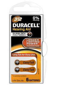 Duracell EasyTab Hearing Aid Battery Size 312