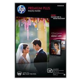 HP Premium Plus Glossy Photo Paper 300 g/m-50 sht/10 x 15 cm