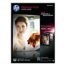 HP Premium Plus Semi-gloss A4 Photo Paper - 20 Sheets