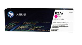 HP # 827A CLJ M880 Magenta Print Cartridge. Approximate cartridge yield 32000 pgs based on 5% coverage