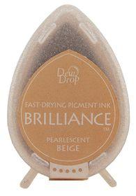 Tsukineko Brilliance Dew Drop Ink Pad - Pearlescent Beige