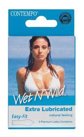 Contempo Wet N Wild Condom 3's