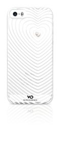 Apple iPhone 5 & 5s White Diamond Heartbeat Cover - White