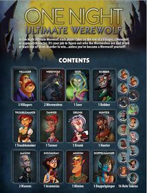 Ultimate Werewolf One Night Ultimate Werewolf Board Game