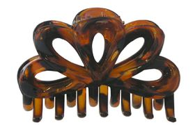 Chic Loop Clamp - 9cm Tortoise Shell