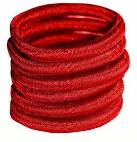 Chic Non-Join Hair Elastic Bands 6 Pack - Red