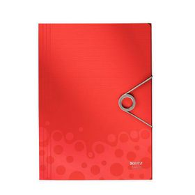 Leitz Bebop 3 Flap Folder A4 - Red