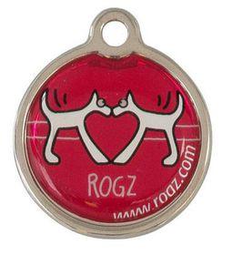 Rogz ID Tagz Large Metal Tag - Red