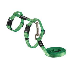 Rogz - Catz KiddyCat Extra-Small Cat H-Harness & Lead Combination - Lime
