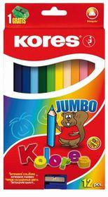 Kores Kolores 12 Triangular Jumbo Coloured Pencils