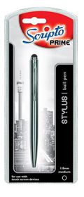 Scripto Prime Rubber Tip Stylus Touch Ballpoint Pen