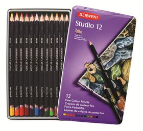 Derwent Studio Pencils - Tin of 12