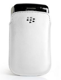 BlackBerry 9720 Pocket Leather Case - White