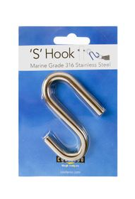 Coolaroo - 'S' Hook Marine Grade 316 - Stainless Steel