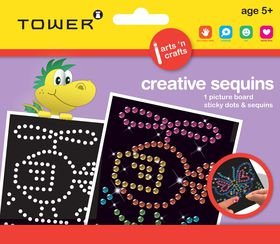 Tower Kids Creative Sequins - Helicopter