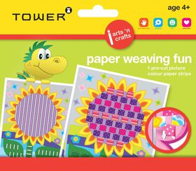 Tower Kids Paper Weaving Fun - Sunflower
