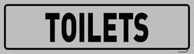 Tower Aluminium Anodised Sign - Toilets