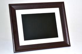 "Mivision 8"" Digital Photo Frame Wood Finish"