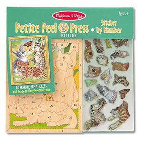 Melissa & Doug Petite Peel and Press - Kittens