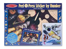 Melissa & Doug Sticker by Number - Space Mission