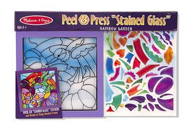 Melissa & Doug Peel & Press Stained Glass - Rainbow Garden