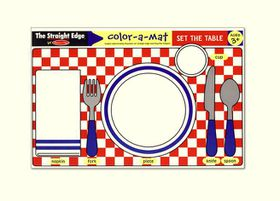 Melissa & Doug Set The Table Colour-A-Mat - Bundle of 6