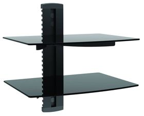 Brateck Aluminum & Tempered Glass Double Shelves