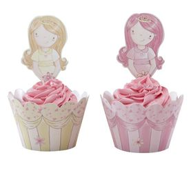Ginger Ray Cupcake Wraps & Toppers - Pack of 10