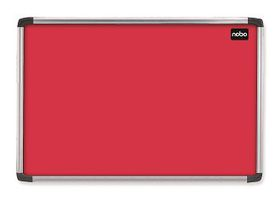 Nobo Elipse Felt Notice Board 450mm x 600mm - Red