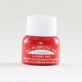 Tsukineko All Purpose Ink - Poppy Red